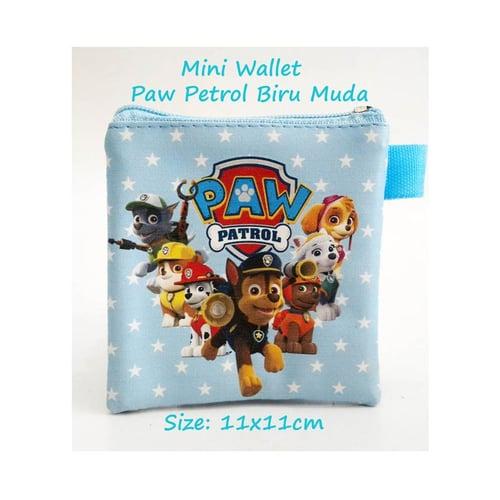 Mini Wallet Paw Patrol Biru Muda Dompet Anak