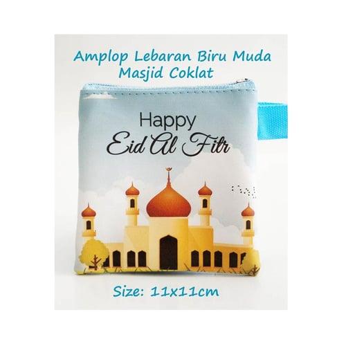 Amplop Lebaran Masjid Coklat Biru Muda 15