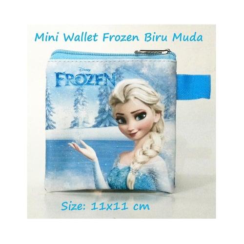 Mini Wallet Frozen Biru Muda Mini Karakter