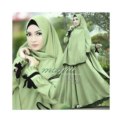 MAYRA Syari Gamis Busana Muslim [04 Elsa Green] DS