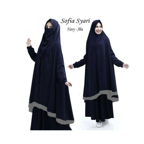 Syari Baju Gamis Busana Muslim [Sofia Navy]