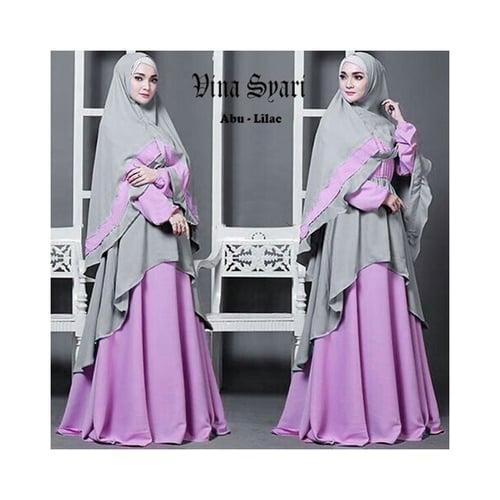 Syari Baju Gamis Busana Muslim Wanita [Vina Abu-Lilac]