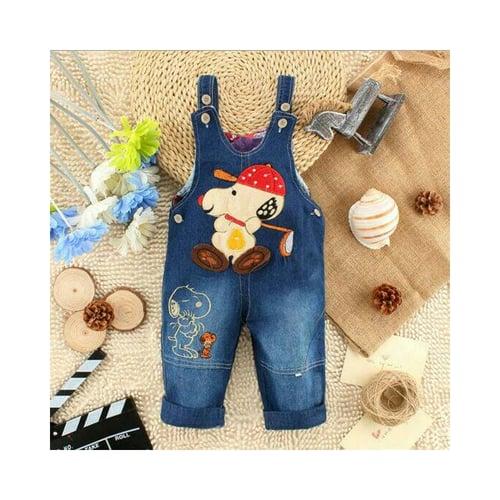Pakaian Bayi Snoopy Denim