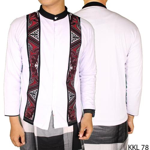 Baju Koko Bordir Katun Lengan Panjang KKL 78 Putih
