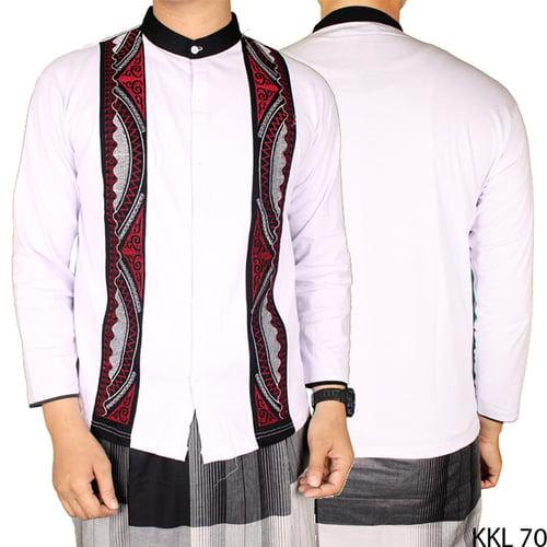 Baju Koko Bordir Katun Lengan Panjang KKL 70 Putih