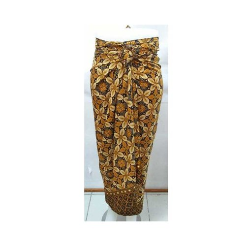 Rok Lilit / Rok Batik Panjang Motif Kupu-Kupu Emas