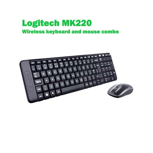 LOGITECH MK 220 Wireless Combo Keyboard & Mouse Hitam
