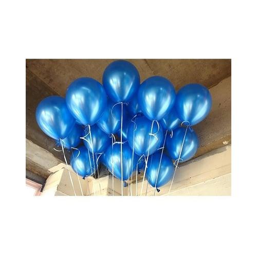 Balon Latex Biru Tua Metalic isi 10 pcs