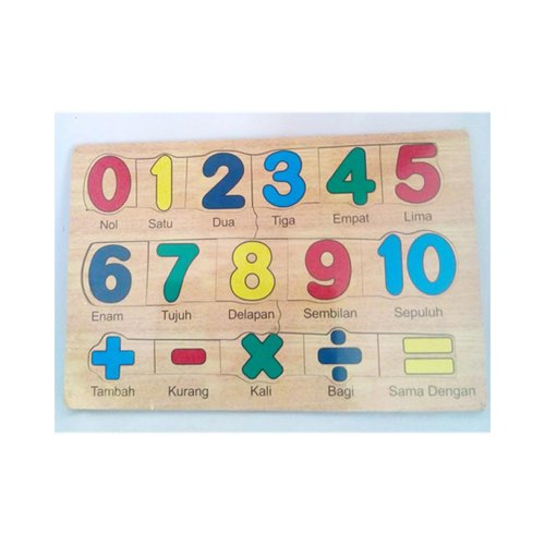 Mainan Edukasi Anak Puzzle Angka Stiker