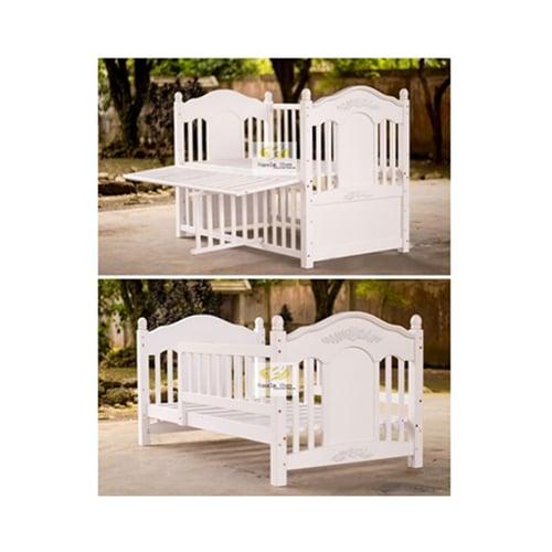 Baby Box Ireland Bed ( 2 in one) Warna : White