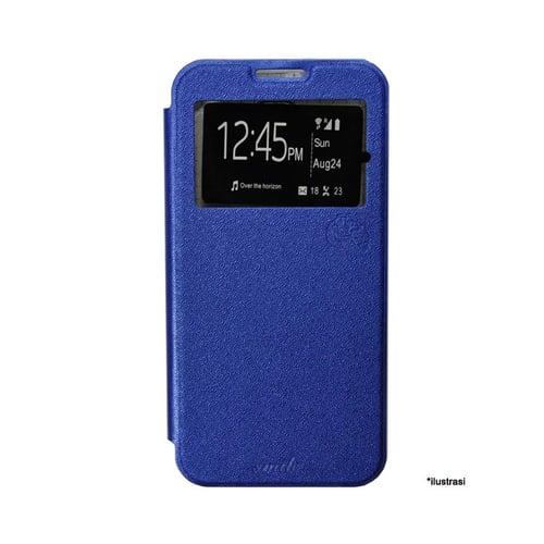 SMILE Flip Cover Case Samsung Galaxy J7 -  Biru Tua