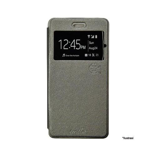 SMILE Flip Cover Case Samsung Galaxy E5 - Abu-abu