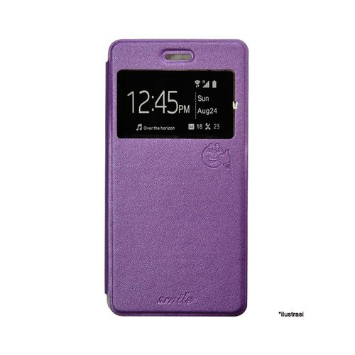 SMILE Flip Cover Case Samsung Galaxy A3 -  Ungu