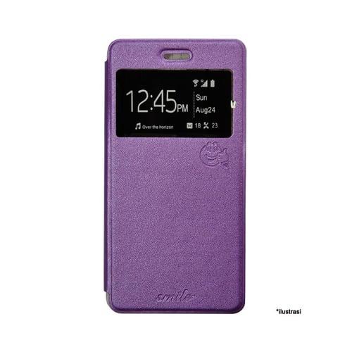 SMILE Flip Cover Case Samsung Galaxy J7 - Ungu