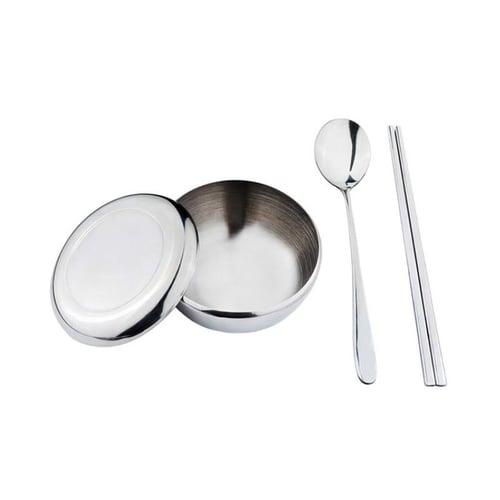 TANICA Sendok Sumpit Mangkuk Korea Set Peralatan Makan
