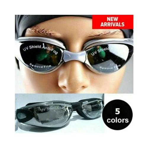 Kacamata Renang Anti Fog Anti Silau Free Penutup Telinga
