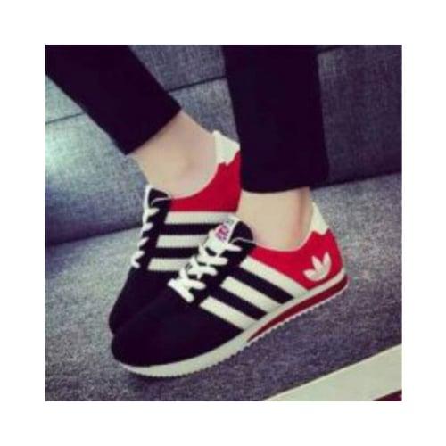 Sepatu Kets Wanita Casual AFS - 113 Hitam-Merah