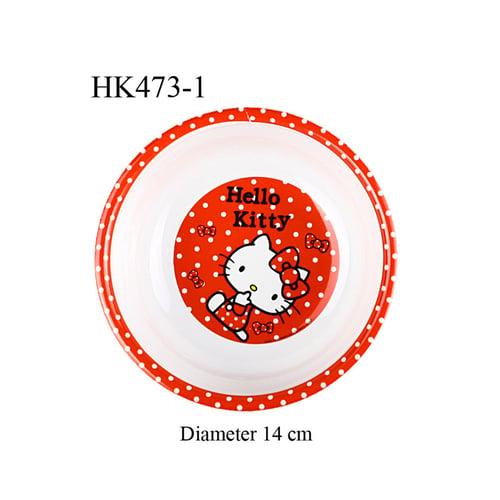 Mangkuk Melamine Hello Kitty bulat Merah HK473-1