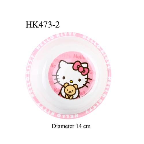 Mangkuk Melamine Hello Kitty bulat Pink HK473-2