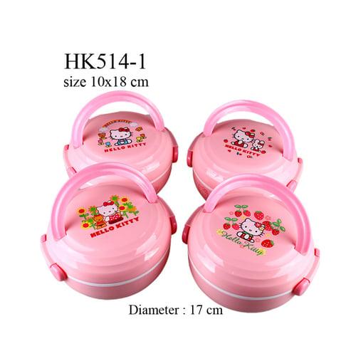 Tempat bekal Hello Kitty 1 susun bulat HK514-1