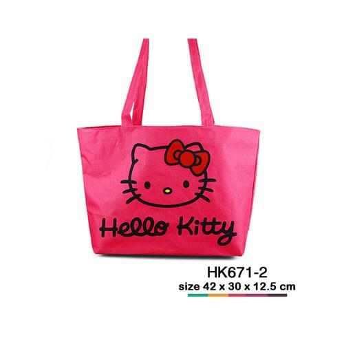 Tas jinjing kanvas Hello Kitty simple Pink HK671-2