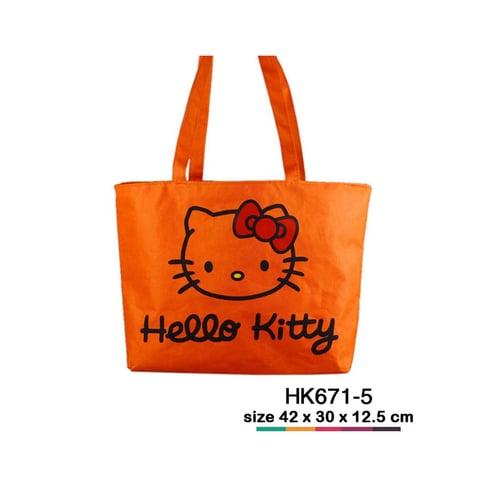 Tas jinjing kanvas Hello Kitty simple Orange HK671-5