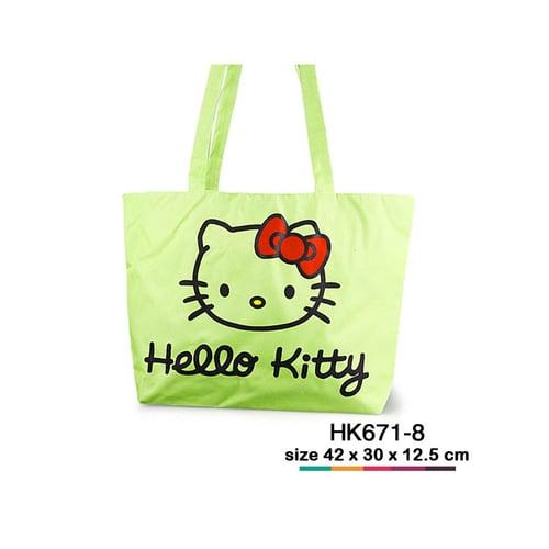 Tas jinjing kanvas Hello Kitty simple Hijau muda HK671-8