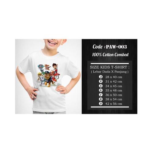 Kaos / Baju Anak Paw Patrol PAW-003