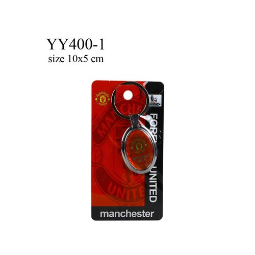 Gantungan kunci metal oval klub bola MU YY400-1