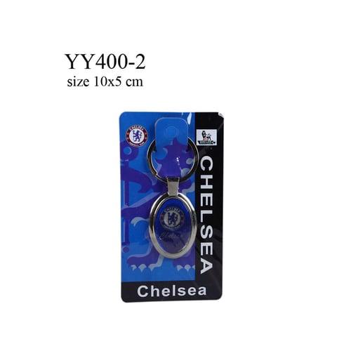 Gantungan kunci metal oval klub bola Chelsea YY400-2