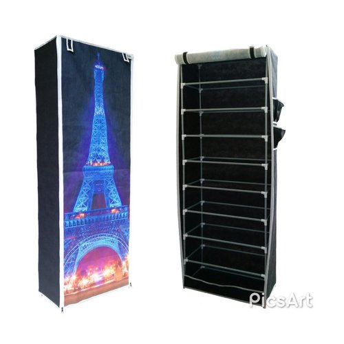 NINEBOX Rak Sepatu Motif Eiffel / Rak Sepatu Nine Box 9 Susun Type SM9 Effiel