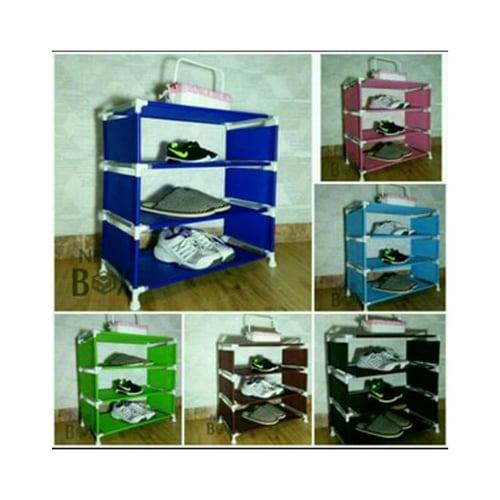 NINEBOX Rak Sepatu / Rak Sepatu Susun 4 / Rak serbaguna Type W4