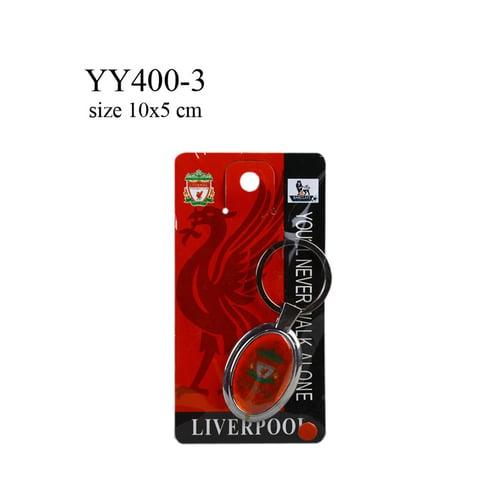 Gantungan kunci metal oval klub bola Liverpool YY400-3