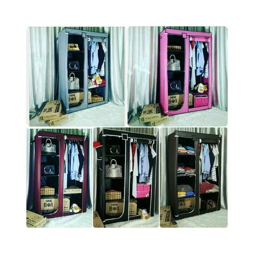 NINEBOX Lemari Baju / Storage Box / Rak Pakaian Type DW