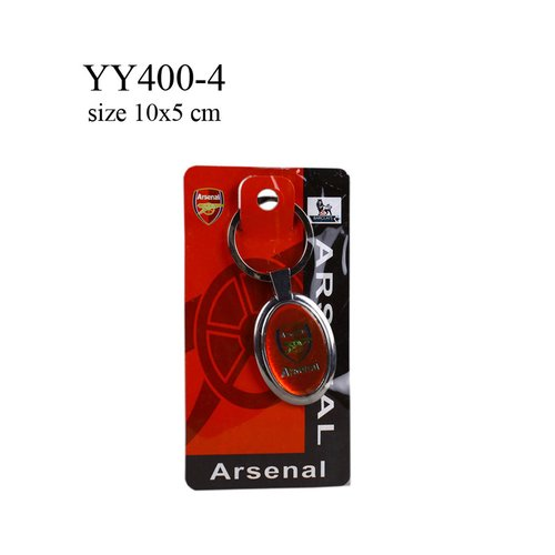 Gantungan kunci metal oval klub bola Arsenal YY400-4