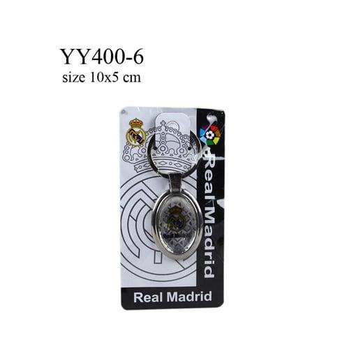 Gantungan kunci metal oval klub bola Real madrid YY400-6