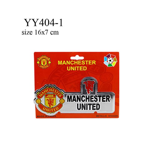 Stiker klub bola logo + nama MU YY404-1