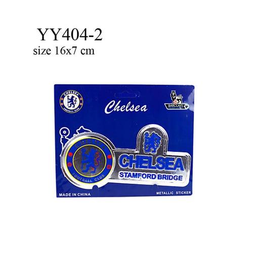 Stiker klub bola logo + nama Chelsea YY404-2