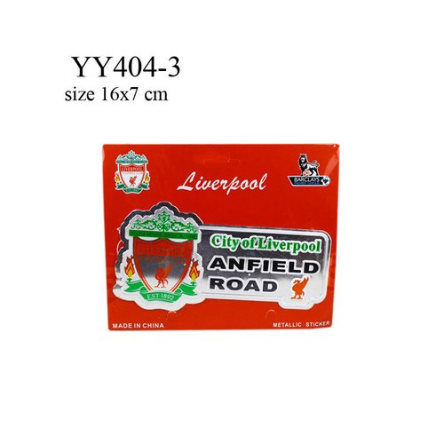 Stiker klub bola logo + nama Liverpool YY404-3
