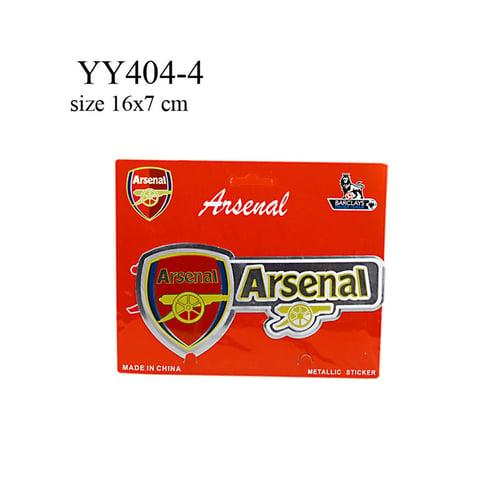 Stiker klub bola logo + nama Arsenal YY404-4