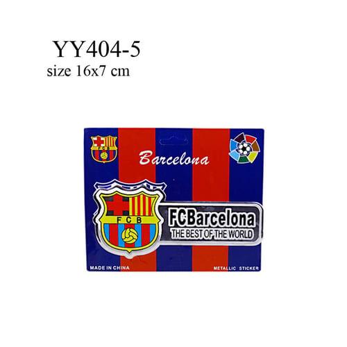 Stiker klub bola logo + nama Barcelona YY404-5