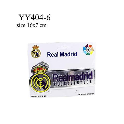 Stiker klub bola logo + nama Real madrid YY404-6