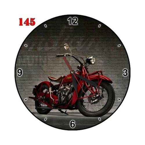 Natural #145 Jam Dinding Motif Desain Motor Klasik Handmade Dekorasi Ruang