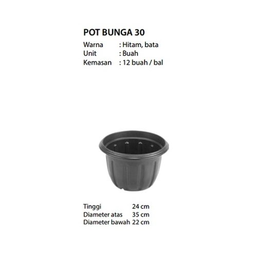 Bintang Laut Pot Bunga / Tanaman Plastik 30cm