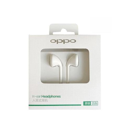 OPPO Handsfree MH133 Stereo Headset Earphone All Phone White