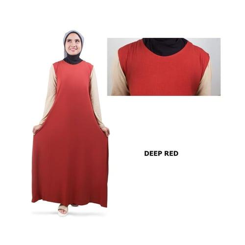 Gamis Lengan Pendek Jersey Red