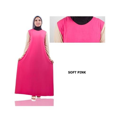 Gamis Lengan Pendek Jersey Soft Pink