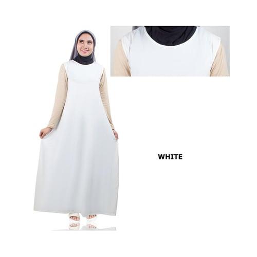 Gamis Lengan Pendek Jersey White