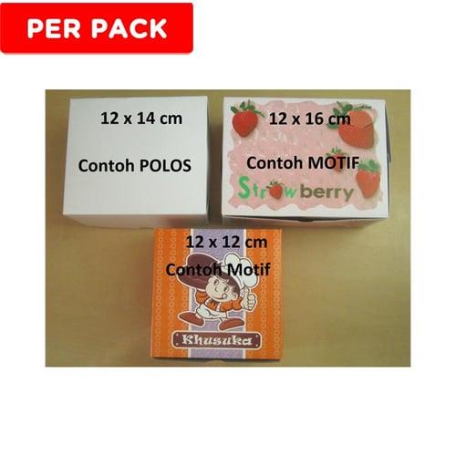 Dus Snack / Kue UK 12x16 Putih Polos (100lbr)