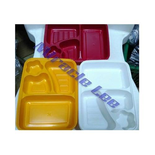 Kotak Bento Sekat 4 Warna Bento Pelangi / Warna